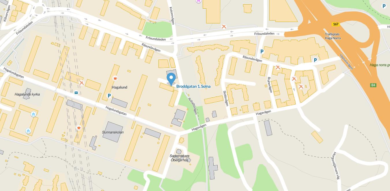 karta till kontoret